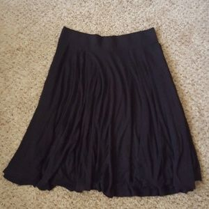 H&M midi basics skirt black medium
